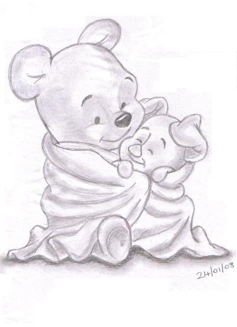 disney sketches winnie pooh piglet landn83 foundmyself drawing
