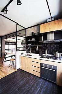 indogate decoration cuisine noir et gris