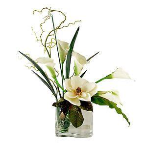 calla table l flower arrangements magnolia calla bouquet silk