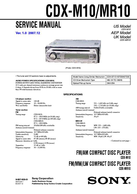 sony cdx m10 wiring diagram wiring diagram with description