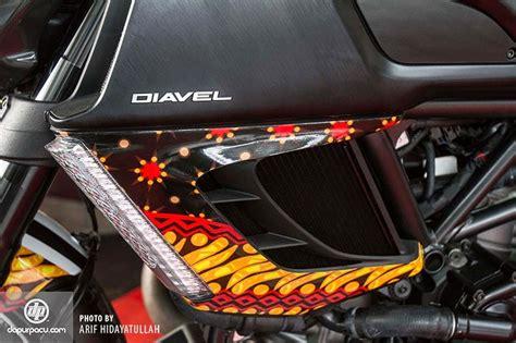 modifikasi motor sport indonesia motor sport modifikasi motor ducati bercorak batik