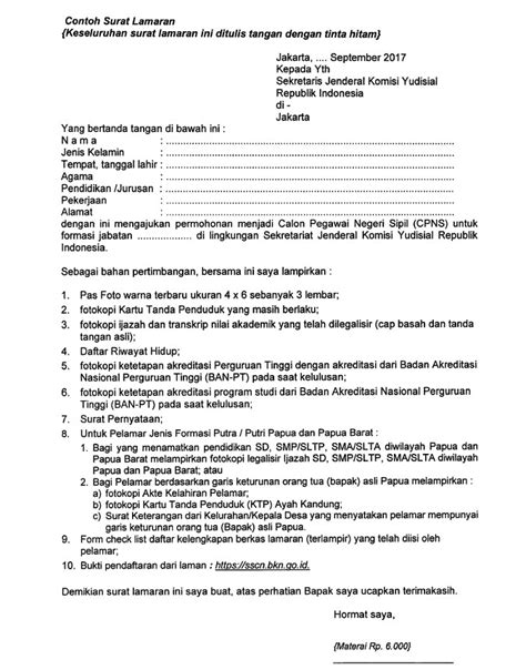 Contoh Lamaran Cpns Kemdikbud by Format Surat Lamaran Cpns 2017 Tahap 2 Contoh Surat