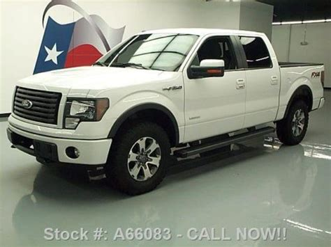 2012 ford f 150 fx4 ecoboost white crew cab 20 inch wheels f 150 photo buy used 2012 ford f 150 fx4 crew ecoboost 4x4 rear cam