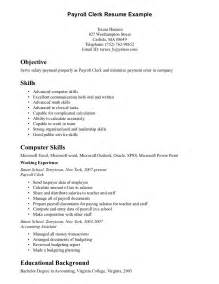 Payroll Officer Sle Resume by Payroll Resume Thebridgesummit Co