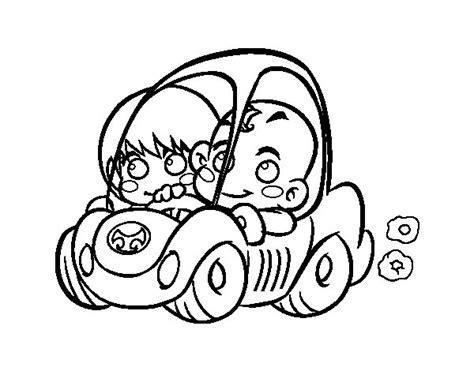 imagenes para colorear niños de kinder dibujo de ni 241 os conduciendo para colorear dibujos net