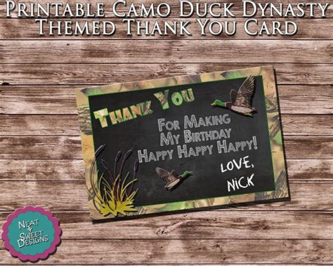 Duck Dynasty Birthday Cards Printable
