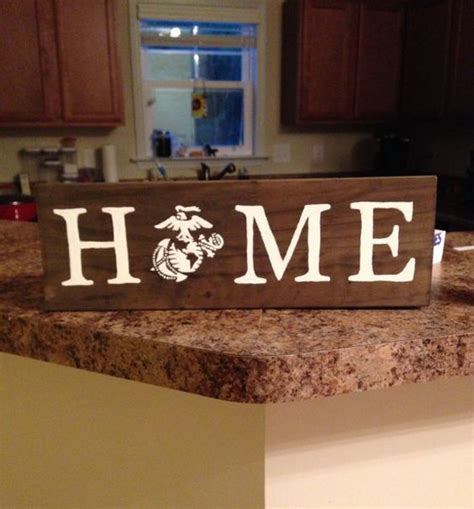 marine home decor home marine corps decor sign by ktscharmingcreations on