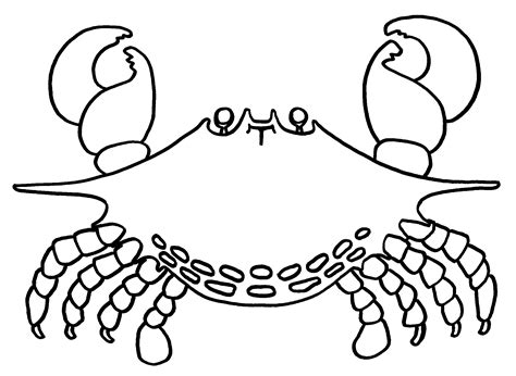 Free Printable Crab Coloring Pages For Kids Crab Colouring Pages