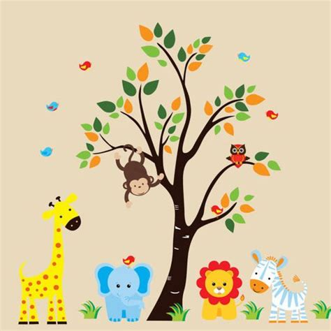 jungle nursery wall stickers best 25 animal wall decals ideas on