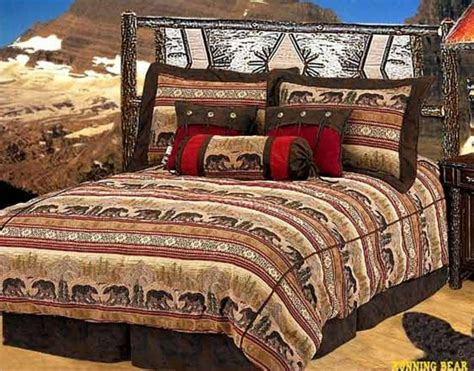 Cabin Bedding Sets by Look Western Cabin Decor Running Comforter Set
