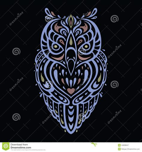 tribal pattern owl background decorative owl ethnic pattern stock vector image 44608647