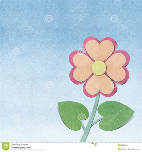Flower Papercraft - flower and sky recycled papercraft royalty free stock