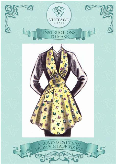 vintage apron pattern uk vintage sewing pattern make a 1940s 50s wartime utility