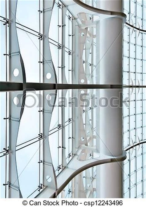 curtain wall clips stock photographs of glass curtain wall of a modern