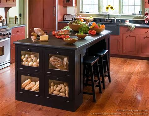 Kitchen Island Storage Design Pictures Of Kitchens Traditional Two Tone Kitchen Cabinets Kitchen 129