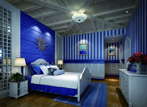 awesome Ideas For A Small Bedroom Teenage #4: bedroom-fancy-blue-bedding-with-white-bedroom-storages-set-on.jpg