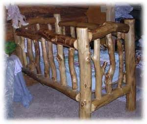 log beds and other furniture