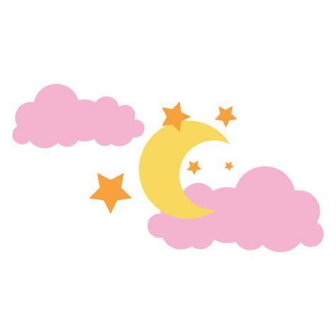 sol y la luna nubes estrellas vector de stock 169 son gifs y fondos pazenlatormenta luna