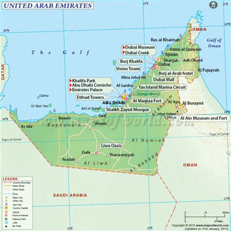 uae map united arab emirates uae focus dubai contemporary