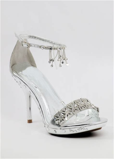 silver shoes dress shoes prom sandals eveningshoe 500 26