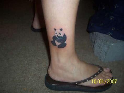 panda tattoo on leg panda tattoo images designs
