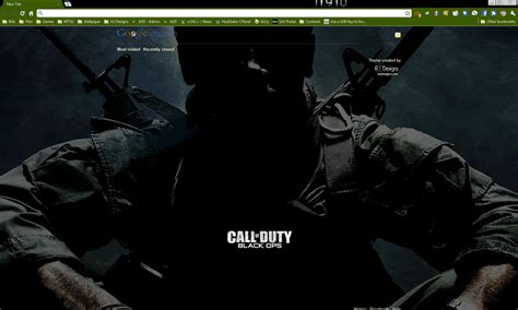 theme google chrome call of duty the game stuffs call of duty black ops chrome theme