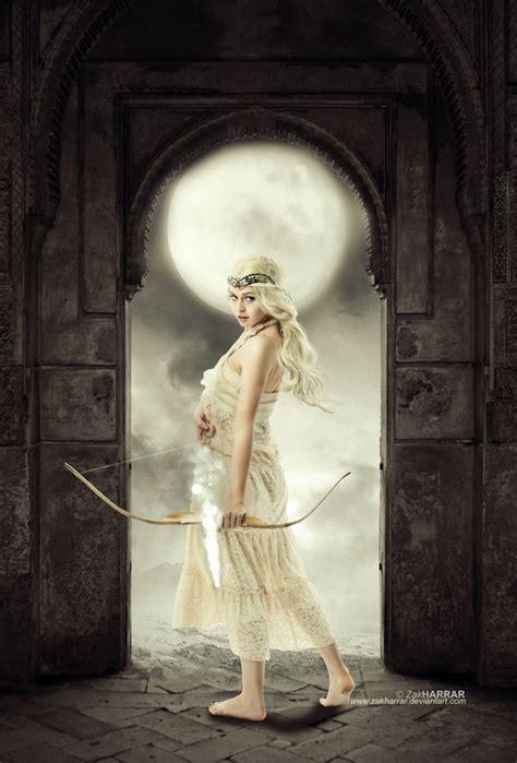 artemis goddess of light by zakharrar on deviantart