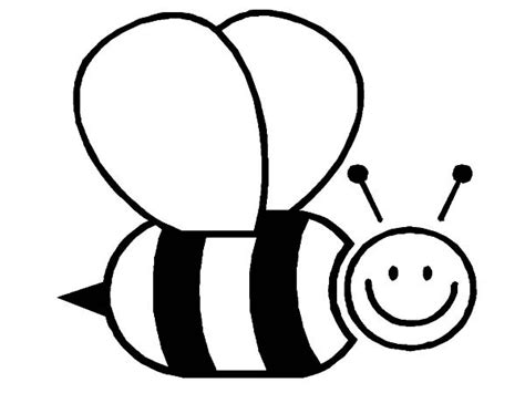 bee color bumble bee coloring pages clipart best