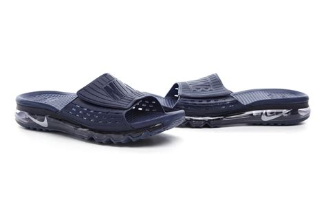 all nike sandals 2016 nike air max sandals slipper hook loop all navy