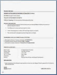 Resume Format Doc For Fresher Engineering Student Fresher Engineer Resume Format Free