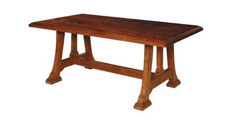 dining table rectangular trestle napa harden luxury