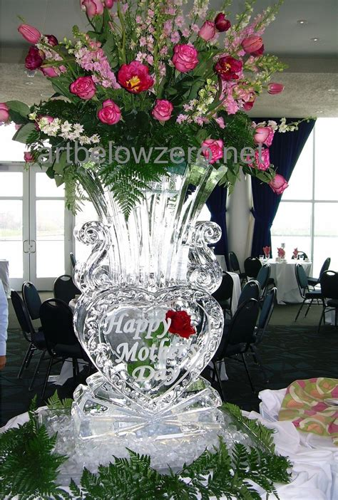 Vases For Centerpieces For Weddings Mothers Day Ice Sculptures By Art Below Zero