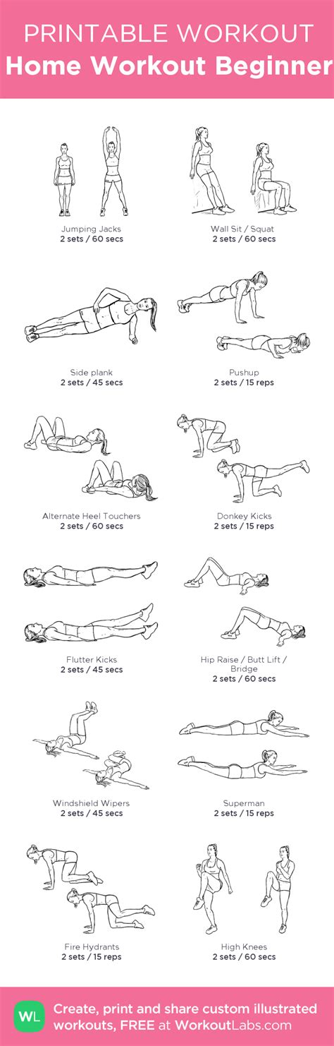 a beginners guide to at home workouts pictures photos and images for facebook tumblr home workout for beginner my custom printable workout by