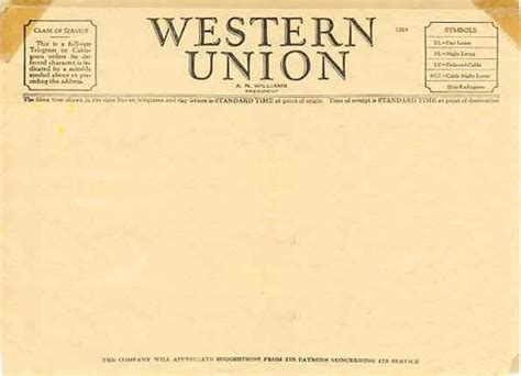 telegram template western union telegram templates wanted ephemera