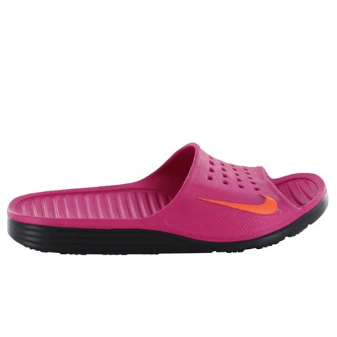 nike slide sandals womens nike solarsoft slide raspberry womens sandals 385750 684