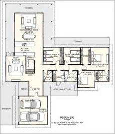 t shaped plan with four bedrooms ideas for the house