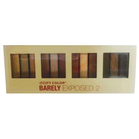 Eyeshadow Palette City Color Barely Exposed 2 Makeup Shimmer Matte city color barely exposed eye shadow palette 2 day 12 colors beautyjoint