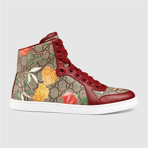 gucci sneakers womens gucci s tian high top sneaker in multicolor lyst