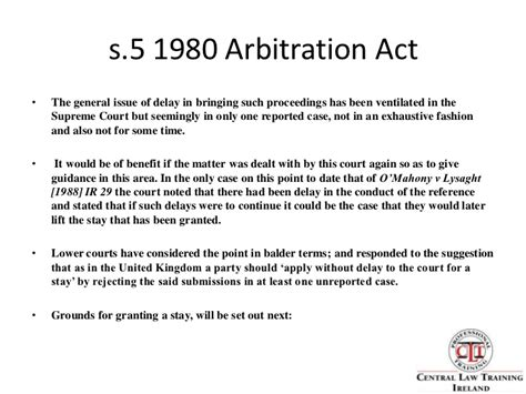 section 17 arbitration act arbitration presentation2009