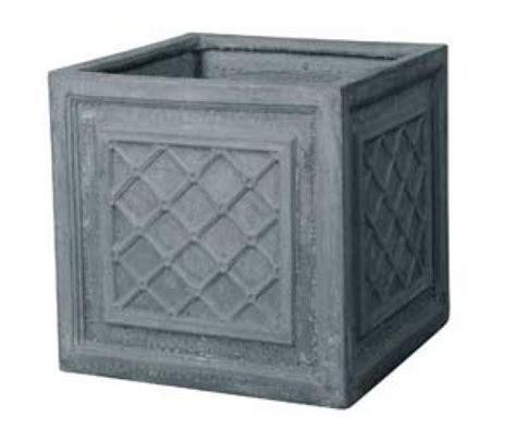 Square Clay Planters Fibre Clay Square Pot Homebase Outdoor Pots Plant