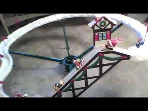 mr christmas santa ski slope youtube