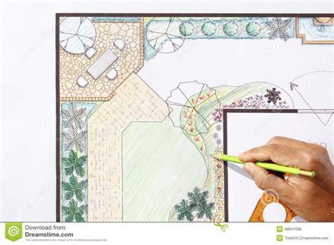 bureau d 騁ude paysagiste conception l plan d architecte paysagiste de jardin de