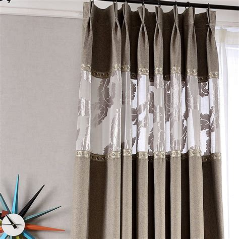 thick linen curtains high quality cotton and linen gray thick blackout curtains