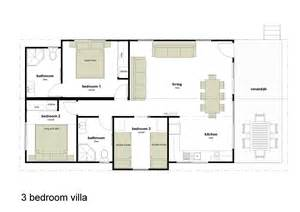 Villa Floor Plans Australia Alivio Tourist Park 3 Bedroom Villas