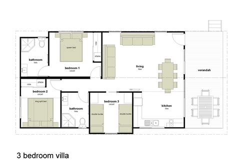 3 floor plan three bedroomed villas plans studio design gallery best design