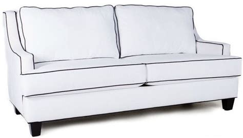 black sofa white piping quinn sofa no skirt