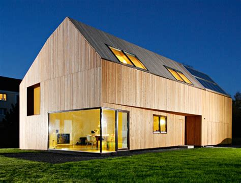 passive house gorgeous wood clad german home with near passive house performance inhabitat