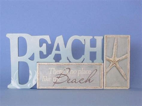 beach signs home decor buy wooden table top letters beach sign 12 inch wholesale beach room