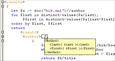 java xquery tutorial xml code folding