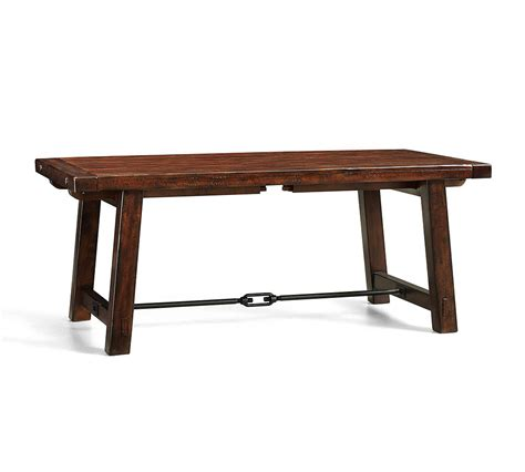 Rustic Mahogany Dining Table Benchwright Extending Dining Table Rustic Mahogany